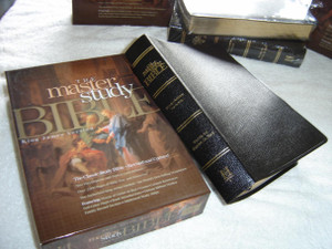The Master Study Bible: King James Version (KJV) Black Bonded Leather / With Bible Encyclopedia and Topical Concordance