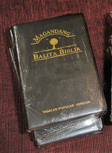 Tagalog Popular Version Bible, TPV035GE Black Leather with Golden Edges / Magandang Balita Biblia