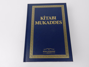 Turkish Blue Gilded Hardcover Bible / Kitabi Mukaddes Eski ve Yeni Ahit / Tevrat, Zebur (Mezmurlar) ve Incil
