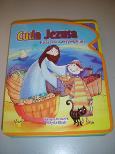 The Miracles of Jesus / Polish Language Children's Bible with Detachable Puzzles / For Children Age 3+ / Cuda Jezusa: Ksiazeczka aktywizujaca