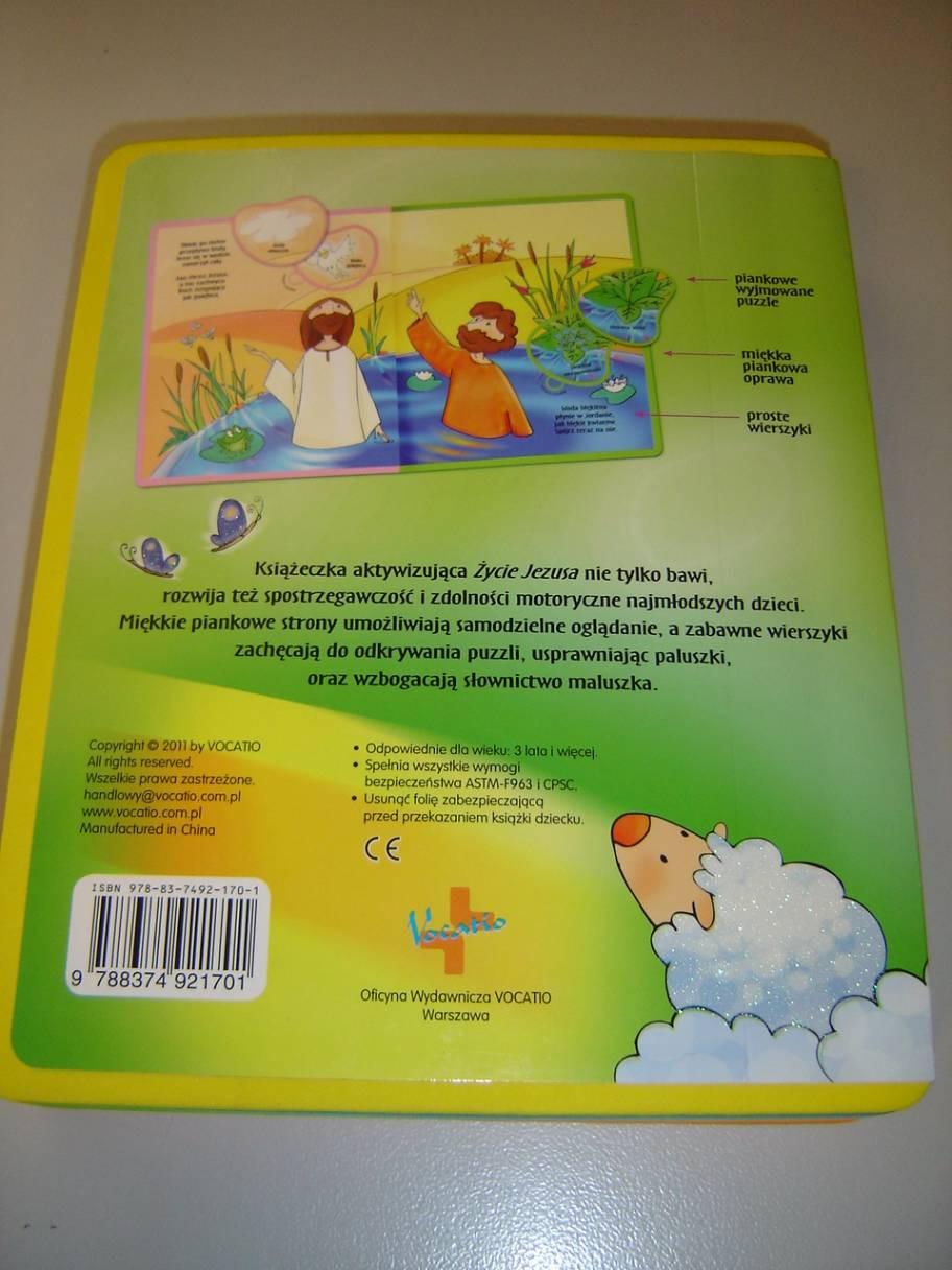 The Life Of Jesus Polish Language Childrens Bible With Detachable Puzzles For Children Age 3 Zycie Jezusa Ksiazeczka Aktywizujaca
