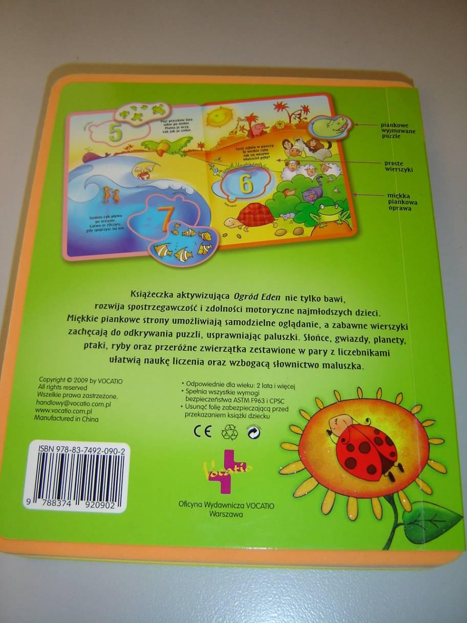 The Garden Of Eden Polish Language Childrens Bible With Detachable Puzzles For Children Age 3 Ogrod Eden Ksiazeczka Aktywizujaca