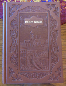 New NASB Illustrated Jerusalem Bible / New American Standard Bible / Brown Embossed Hardcover Leatherette / 436 Pictures of the Holy Places