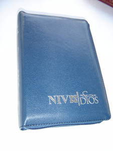 Tagalog-English Bible, Blue Bonded Leather with Zipper and Silver Edges / Ang Salita ng Dios (ASD) - New International Version (NIV)
