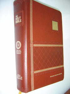 English Standard Version (ESV) Bible with Concordance, Burgundy Embossed Leather with Golden Edges