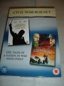 Civil War Box Set: Gods and Generals / Gettysburg // ENGLISH and German Sound and Subtitles [DVD Region 2 PAL]