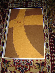 Thinline Common English Bible (CEB) Brown-Tan DecoTone Binding / Classic Double Column Text with 9-Point Font / 8 Color Maps by National Geographic / High Portability Slim Format