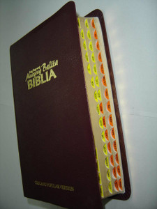 Cebuano Popular Version Bible, Ang Bag-Ong Maayong Balita Biblia / RCPV035GE /  Burgundy Vinyl Softcover with Thumb Index / Double Column Text with Maps at the End