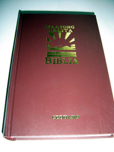 Cebuano Maayong Balita Biblia (MBB) Bible, Pew Size Burgundy Hardcover with Thumb Index / MBB99CEB053 / Double Column Text, Book Introduction and Maps at the End