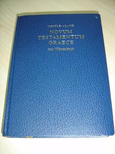 Nestle Aland: Novum Testamentum Graece mit Worterbuch / Greek New Testament with Dictionary, Blue Hardcover / Greek Text