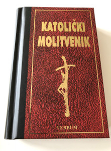 Croatian Catholic Prayer book, 11th Edition / Small Red-Black Hardcover with Bookmark / Katolički Molitvenik, 11. Izdanje / Sa markerom / Verbum (9789532351040)