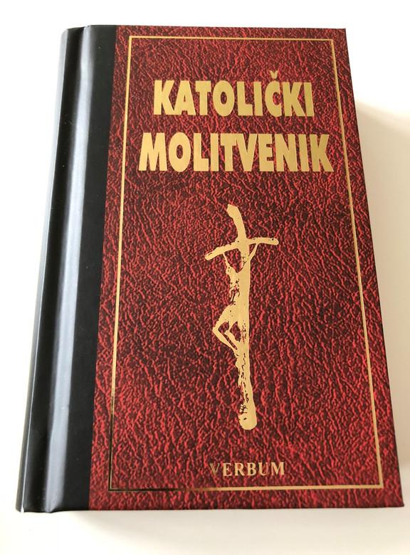 Croatian Catholic Prayer book, 11th Edition / Small Red-Black Hardcover with Bookmark / Katolički Molitvenik, 11. Izdanje / Sa markerom / Verbum (9789532351040)