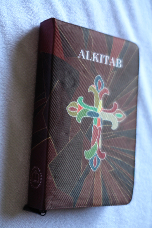 Indonesian Bible with Beautiful Cross
