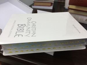 WHITE Christian Community Bible with Study Notes  Weddings