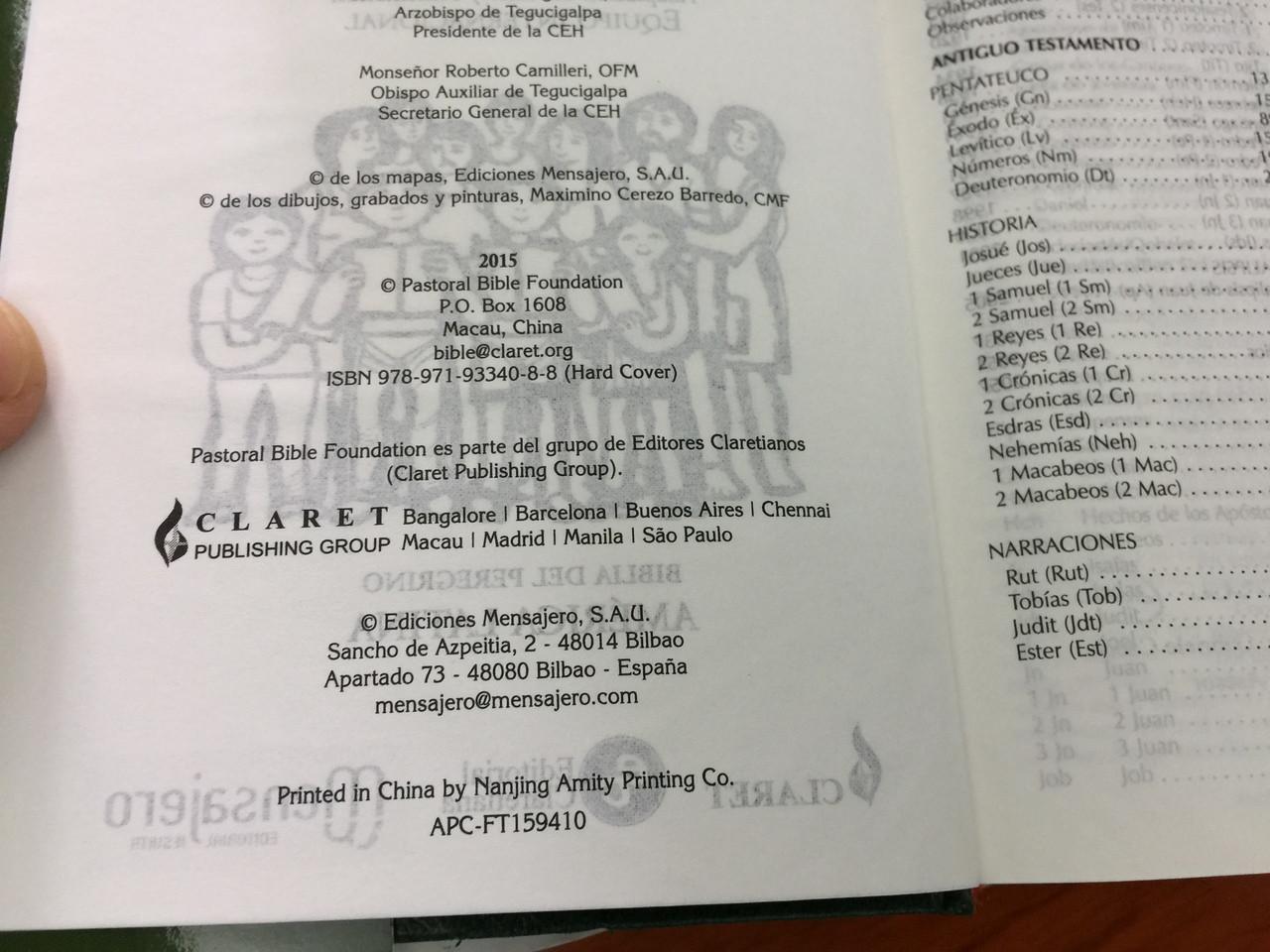 Spanish Christian Community Bible with Study Notes GREEN / La Biblia de  Nuestro Pueblo / Biblia Del Peregrino America Latina / PURSE SIZE / Thumb