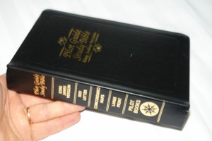 Pilot Guide Study Bible / King James Version KJV / Large Print, Black Bonded Leather / High Quality Print / Words of Christ in RED