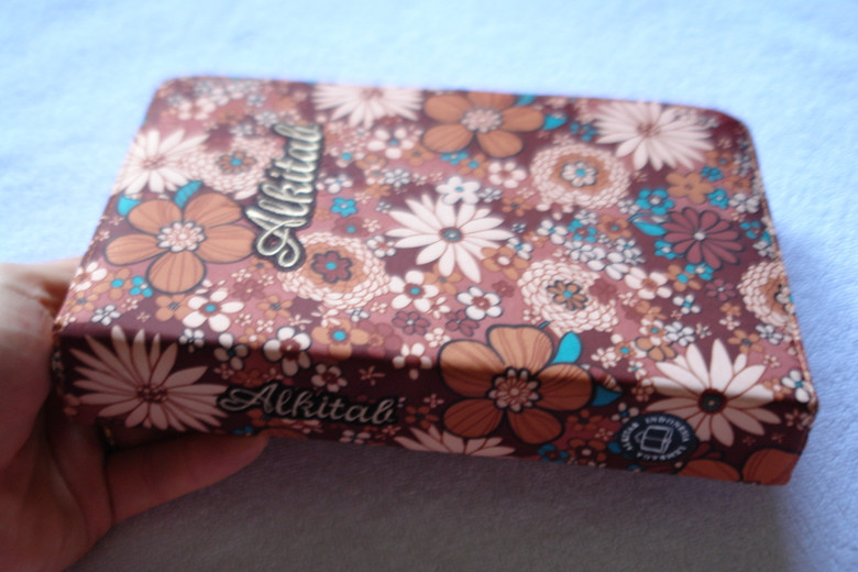 Alkitab Indonesian Bible with INDONESIAN SPECIAL CLOTH BROWN FLOWERS DESIGN