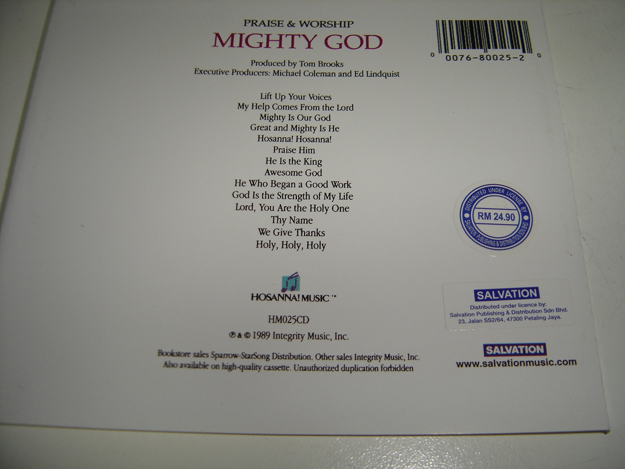 MIGHTY GOD / Praise & Worship Integrity Music 1989 / Anointed and Powerful  Worship Experience With Worship Leader J  Daniel Smith