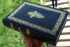 Russian Orthodox Bible with Beautiful Cross / Classic Large Size, Heavy Bible, Great Present, Blue Cover Color / Moscow 2012 Print