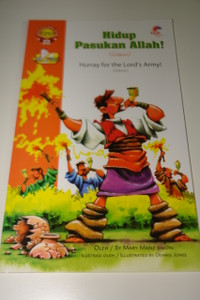 Indonesian – English Bilingual Children's Bible Story Book / Gideon – Hidup Pasukan Allah – The Story of Judge Gideon – Hurray for the Lord's Army
