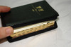 Chinese Pocket Size Bible CNV / Black Leather Bound Very Small / Traditional Character / Shen Edition / Zipper with Golden Edges, and Thumb Index / Chinese New Version Text
