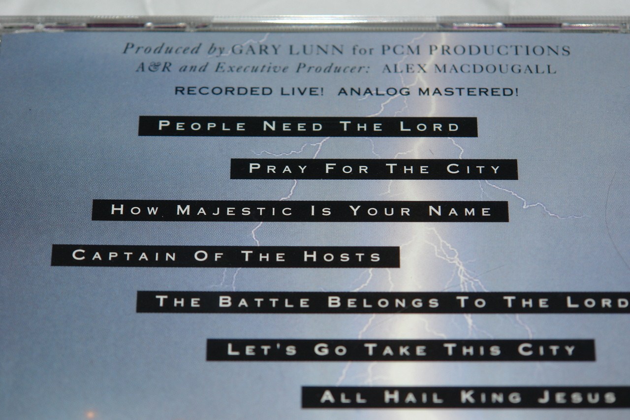 Take This City / Live Worship Songs For Spiritual Warfare / Worship  Leaders: Tom McCain, Guy Penrod, Lindell Cooley / Singers: Russell Mauldin,  Mike