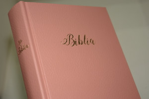 Pink Hungarian Bible / MAGYAR BIBLIA: Egyszerű fordítás (EFO) / Keményborító rózsaszín műbőr kötés / Imitation Leather Hardcover / Modern Hungarian Language Easy to Read