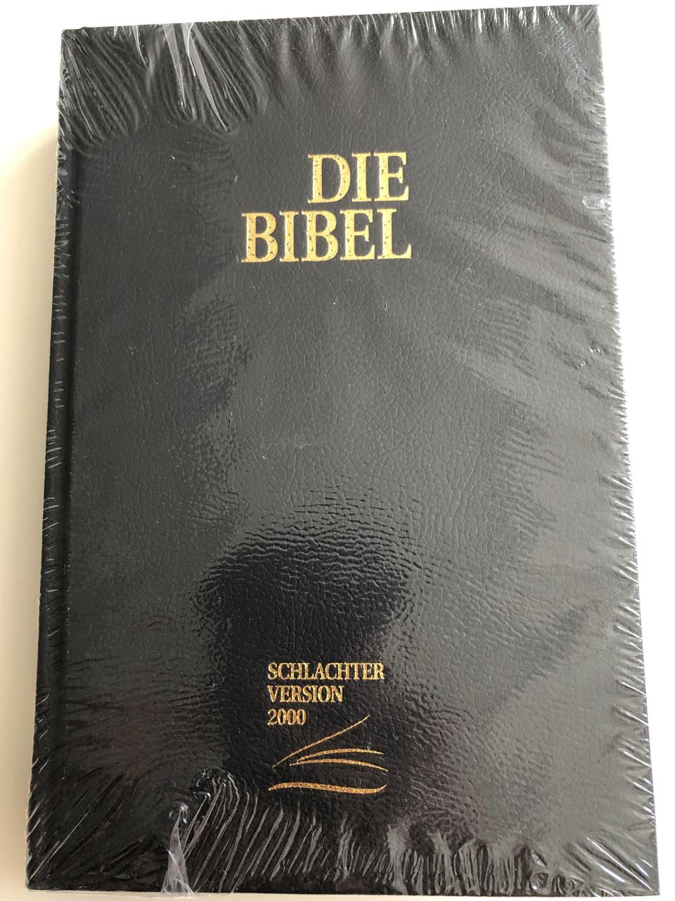 German Bible Die Bibel Clv Schlachter Version 2000 Mit Parallelstellen Und Studienhilfen Schwarz Hardcover Black Parallel Passages On Margins Color Maps Study Aid Bibleinmylanguage