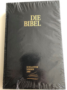 German Bible Die Bibel CLV Schlachter Version 2000 / mit Parallelstellen und Studienhilfen / Kunstleder, Schwarz / Imitation Leather, Black, Color Maps, Study Aid (9783893970513)