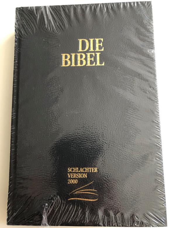 German Bible Die Bibel CLV Schlachter Version 2000 / mit Parallelstellen und Studienhilfen / Kunstleder, Schwarz / Imitation Leather, Black, Color Maps, Study Aid (9783893970513)