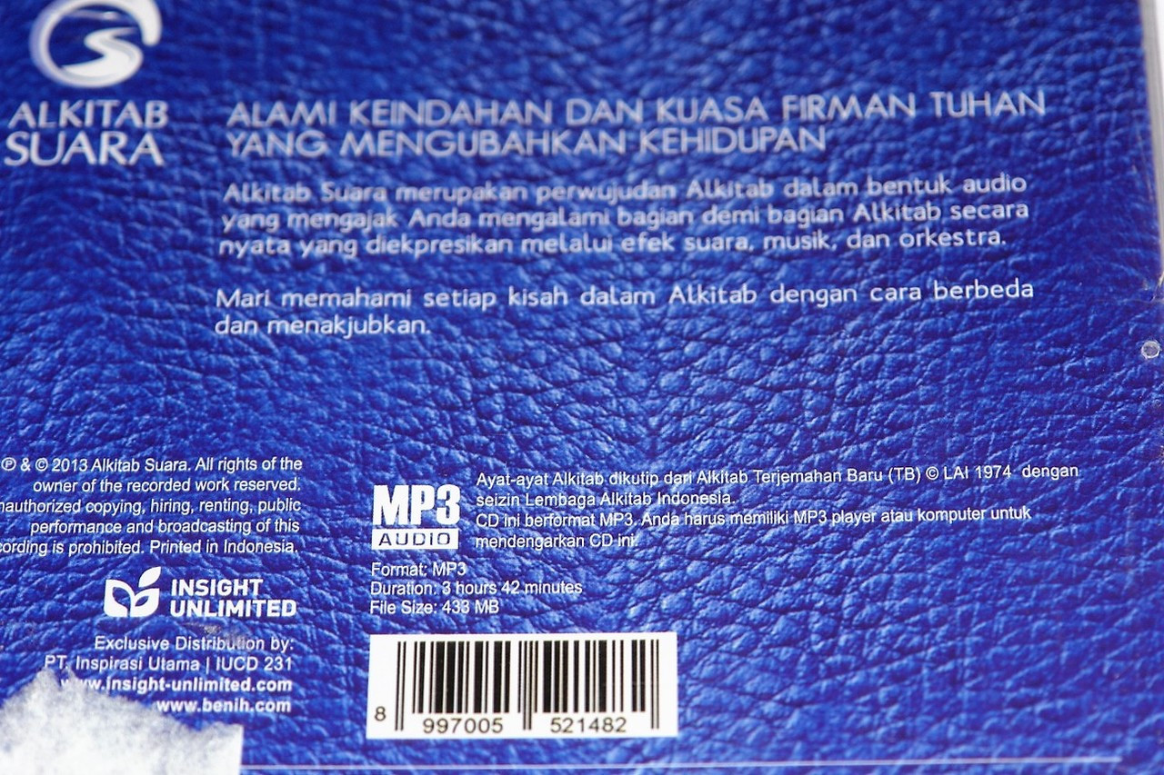 Lukas / The Gospel of Luke in Indonesian Language MP3 CD Recording  Dramatized with Sound Effects, Music, and Orchestra / Ketika Firman Menjadi  Hidup /