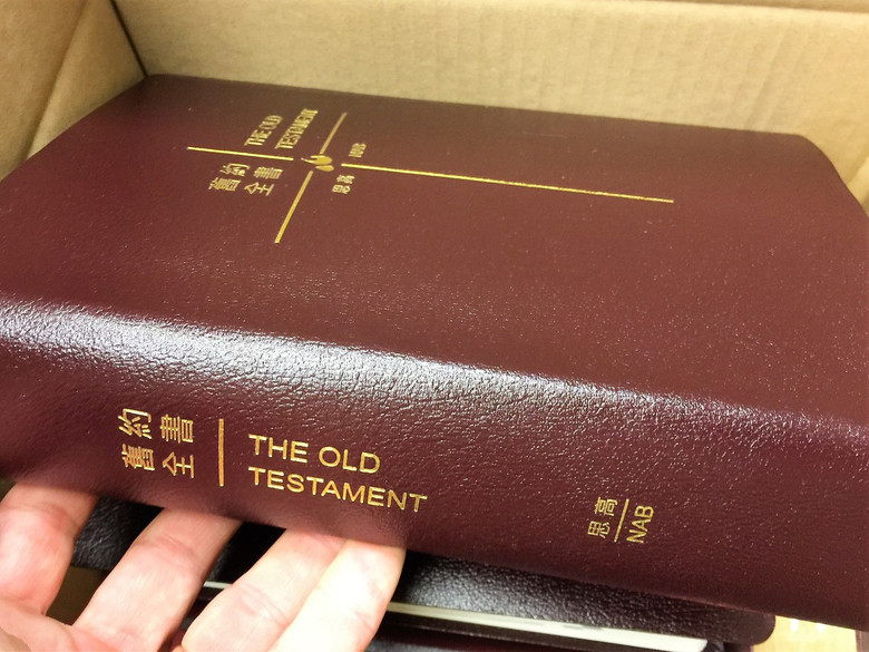 Chinese - English Catholic Study Old Testament / Burgundy Imitation Leather Binding / Studium Biblicum O.F.M. / New American Bible / by The Archdiocese of San Francisco / Traditional Chinese / 2017 Print (BurgundyCHCTOT)