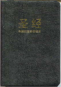 Chinese Fire Bible AKA Full Life Study Bible / Chinese Union Version Text / CUV / Simplified Chinese Characters / Bonded Leather, Black, Gold Lettering on Cover (9780736103930)