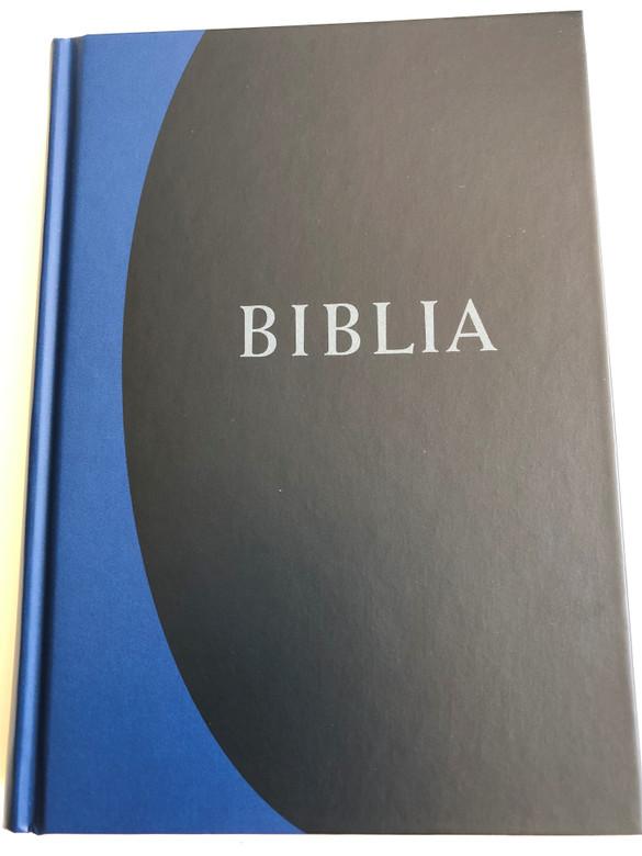 Hungarian Protestant Bible / Biblia, nagy méretű, keménytáblás / Hardcover / Revideált új fordítás (RÚF 2014) Kék színben A/5 Size (9789635582440)