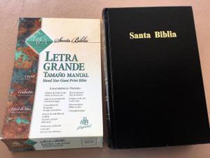Santa Biblia: LA Biblia De Las Americas (Spanish Large Font Bible) Large Print Letra Grande Tamano Manual / Tapa Dura Negro / LBLA Edicion en letra grande / Color Maps / Hand Size / Concordance