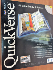 Quickverse Mac Bible Study 2007 Black Box by FindEx / QuickVerse Mac is the most intuitive and Mac-embracing bible-study software on the market /  Includes 12 bibles and 63 reference titles