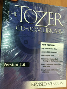 The TOZER CD-ROM Library / Revised Version 4.0 / Christian Publications, Inc. / a searchable database containing the vast majority of Tozer's written works