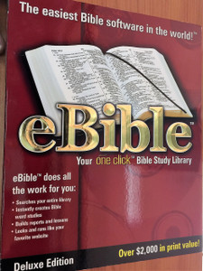 eBible Multimedia CD-ROM by Thomas Nelson Publishers / DELUXE Edition / Your ONE CLICK Bible Study Library