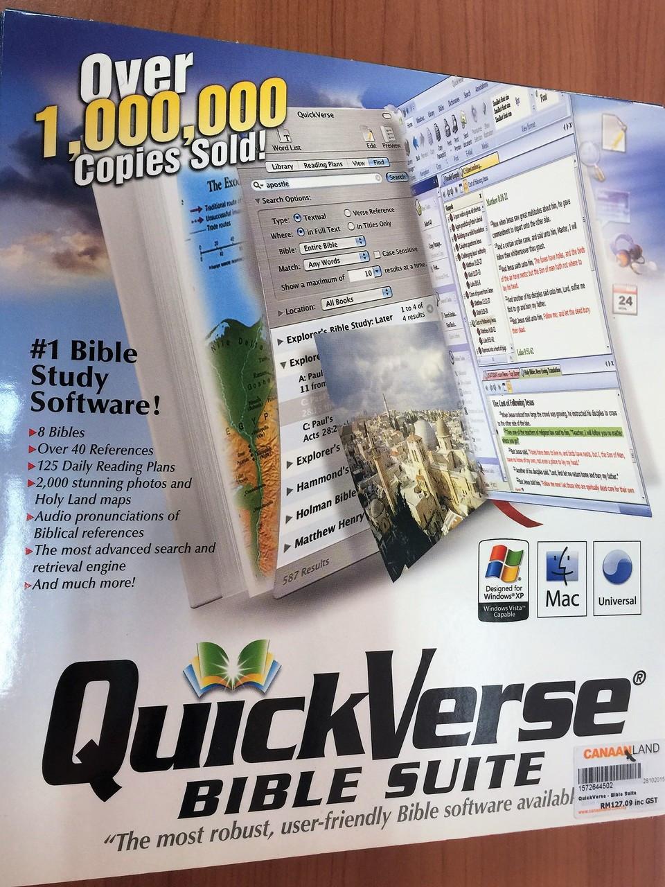 QuickVerse Bible Suite - #1 Bible Study Software / Easy / Powerful /  Rewarding / KJV NKJV The Message Young's ASV
