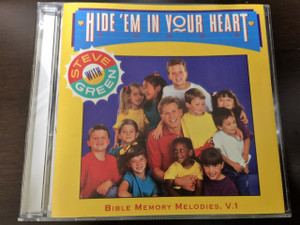 Hide 'Em in Your Heart Vol. 1 with Steve Green / Bible Memory Melodies / Audio CD to teach Scriptures to children