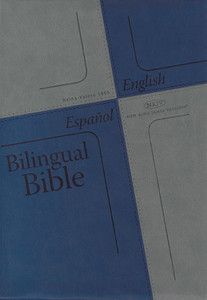 Bilingual Bible (Spanish Reina-Valera 1995 and English NKJV) / Blue Cover / English and Spanish / USA