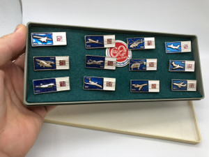 Aeroflot Celebrating 60 Years 1923-1983 Russian Airlines Limited Edition Airplane Type 12 Pushpins / Аэрофлот — Российские авиалинии / CCCP SSSR