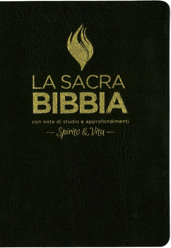 The Full Life Study Bible in Italian Language – The Spirit Filled Fire  Bible / Black Imitation Leather Cover with Golden Edges / Concordance /  Color