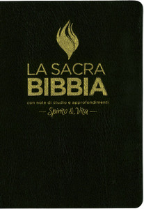 The Full Life Study Bible in Italian Language – The Spirit Filled Fire Bible / Black Imitation Leather Cover with Golden Edges / Concordance / Color Maps / Bibbia da studio con note di studio e approfondimenti Spirito & Vita in Pelle Nera
