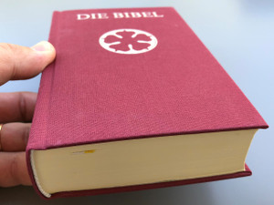 German Luther Bible / Purse Size Burgundy Cover / Die Bibel, nach der Übersetzung Martin Luthers / Taschenformat