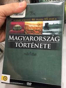 MAGYARORSZÁG TÖRTÉNETE televíziós sorozat: Díszdoboz, 46 epizód 15 DVD / 2009 / The History of Hungary on 15 DVDs HUNGARIAN ONLY OPTIONS