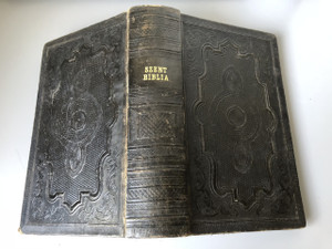 1861 Hungarian Bible / Szent Biblia Karoli Gaspar / in very good unmarked condition / Printed in Berlin / Kiadja Heckenast Gusztav