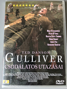 Gulliver's Travels 1995 / Guliver csodálatos utazásai DVD / Director: Charles Sturridge / Audio Options: ENGLISH, Hungarian / Subtitle: Hungarian / Ted Danson, Edward Fox, Geraldine Chaplin, John Gielgud, Peter O'Toole, Omar Sharif