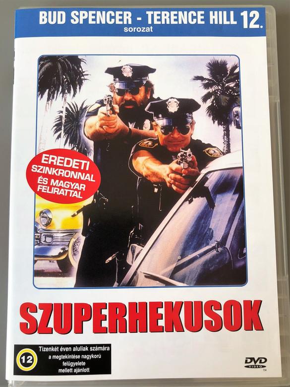 Szuperhekusok 1985 Miami Supercops / Region 2 PAL DVD / Has English and Hungarian Sound options / Bud Spencer, Terence Hill / Directed by Bruno Corbucci / Jackie Castellano, Ken Ceresne, Rhonda Lundstead, C.V. Wood Jr. (5999553601558)