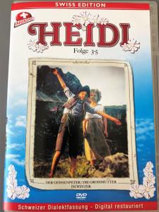Heidi TV Series 1978 / Folge 3-5: 3 Der Geissenpeter / 4 Der Grossmutter / 5 Im Winter / Swiss Edition / Mundart / Schweizer Dialektfassung - Digital restauriert /  Autor: Irene Rodrian / Regie: Tony Flaadt